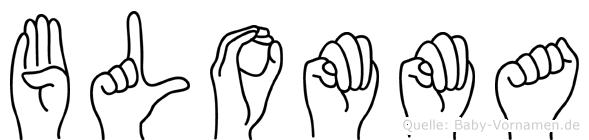 Blomma in Fingersprache für Gehörlose