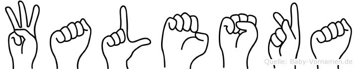 Waleska in Fingersprache für Gehörlose