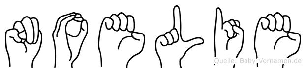 Noelie in Fingersprache für Gehörlose