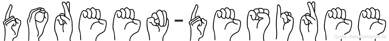 Doreen-Desiree im Fingeralphabet der Deutschen Gebärdensprache