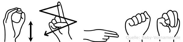 Özhan im Fingeralphabet der Deutschen Gebärdensprache