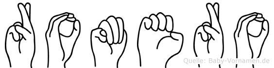 Romero in Fingersprache für Gehörlose