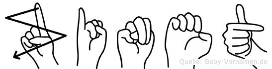 Zinet in Fingersprache für Gehörlose