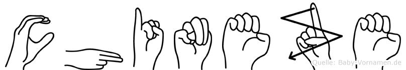 Chineze im Fingeralphabet der Deutschen Gebärdensprache