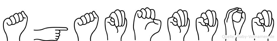 Agamemnon im Fingeralphabet der Deutschen Gebärdensprache