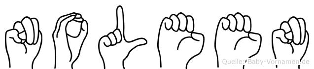 Noleen im Fingeralphabet der Deutschen Gebärdensprache