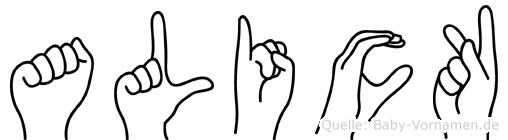 Alick in Fingersprache für Gehörlose