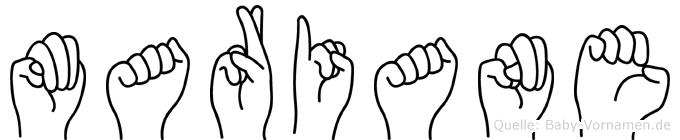 Mariane in Fingersprache für Gehörlose