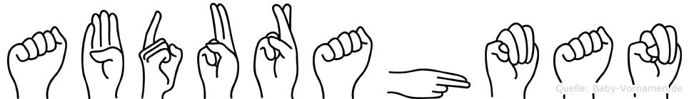 Abdurahman in Fingersprache für Gehörlose