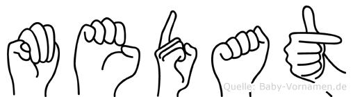 Medat in Fingersprache für Gehörlose