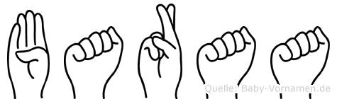 Baraa in Fingersprache für Gehörlose