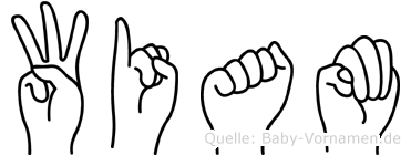 Wiam im Fingeralphabet der Deutschen Gebärdensprache