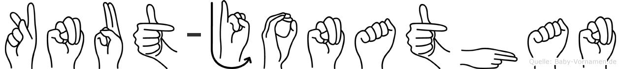 Knut-Jonathan im Fingeralphabet der Deutschen Gebärdensprache