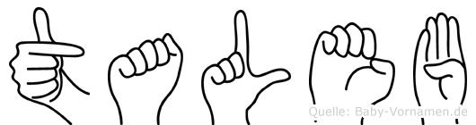 Taleb in Fingersprache für Gehörlose