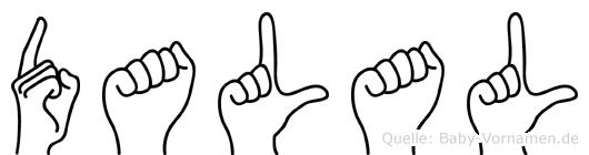 Dalal in Fingersprache für Gehörlose