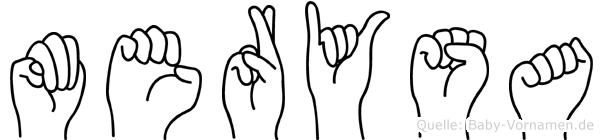 Merysa im Fingeralphabet der Deutschen Gebärdensprache