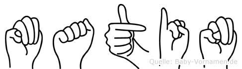 Matin in Fingersprache für Gehörlose