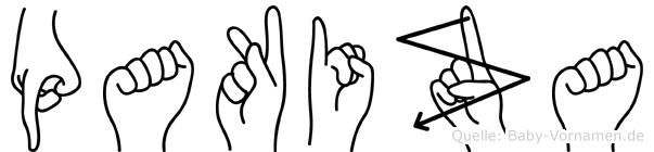 Pakiza in Fingersprache für Gehörlose