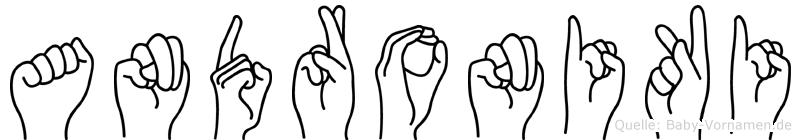 Androniki im Fingeralphabet der Deutschen Gebärdensprache
