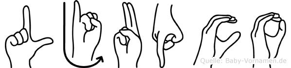 Ljupco im Fingeralphabet der Deutschen Gebärdensprache