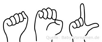 Ael im Fingeralphabet der Deutschen Gebärdensprache