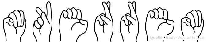 Mükerrem im Fingeralphabet der Deutschen Gebärdensprache