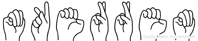 M�kerrem in Fingersprache f�r Geh�rlose