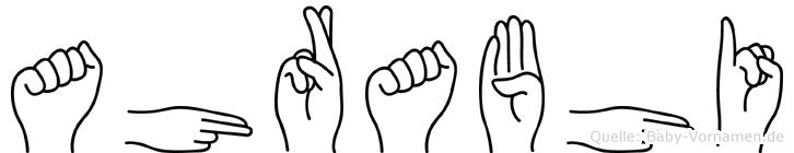 Ahrabhi in Fingersprache für Gehörlose