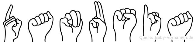 Danusia im Fingeralphabet der Deutschen Gebärdensprache