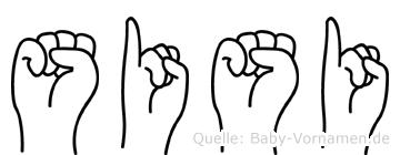 Sisi im Fingeralphabet der Deutschen Gebärdensprache