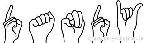 Dandy in Fingersprache für Gehörlose