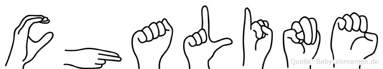 Chaline in Fingersprache für Gehörlose