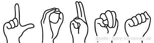 Louna in Fingersprache für Gehörlose