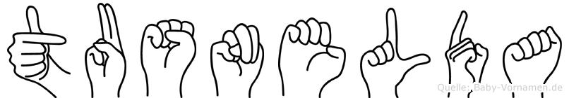 Tusnelda in Fingersprache für Gehörlose