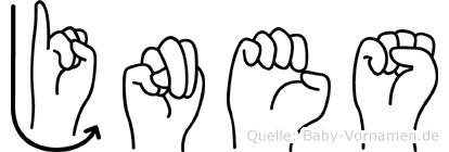Jnes in Fingersprache für Gehörlose