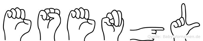 Esengül im Fingeralphabet der Deutschen Gebärdensprache