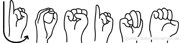 Josine im Fingeralphabet der Deutschen Gebärdensprache