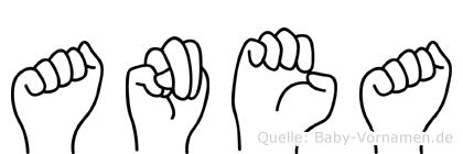 Anea in Fingersprache für Gehörlose