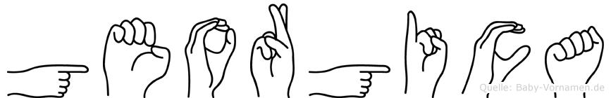 Georgica in Fingersprache für Gehörlose
