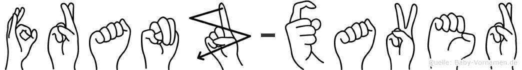 Franz-Xaver im Fingeralphabet der Deutschen Gebärdensprache