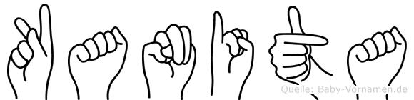 Kanita in Fingersprache für Gehörlose