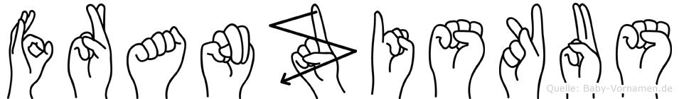 Franziskus in Fingersprache für Gehörlose