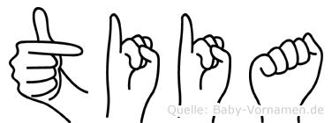 Tiia im Fingeralphabet der Deutschen Gebärdensprache