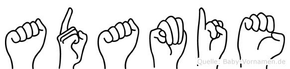 Adamie in Fingersprache für Gehörlose