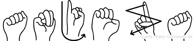 Anjeza in Fingersprache für Gehörlose