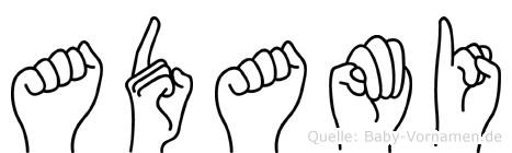 Adami in Fingersprache für Gehörlose