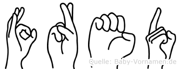 Fred in Fingersprache für Gehörlose