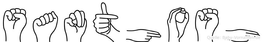 Santhosh im Fingeralphabet der Deutschen Gebärdensprache