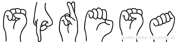 Spresa in Fingersprache für Gehörlose