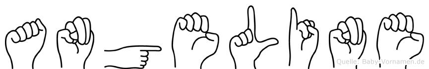 Angeline im Fingeralphabet der Deutschen Gebärdensprache